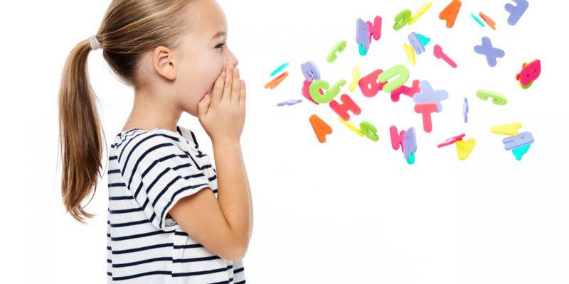little girl stuttering in her speech